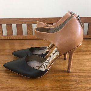 Sam Edelman Black and Tan High Heels